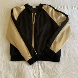 Castro Black satin Jacket with Gold